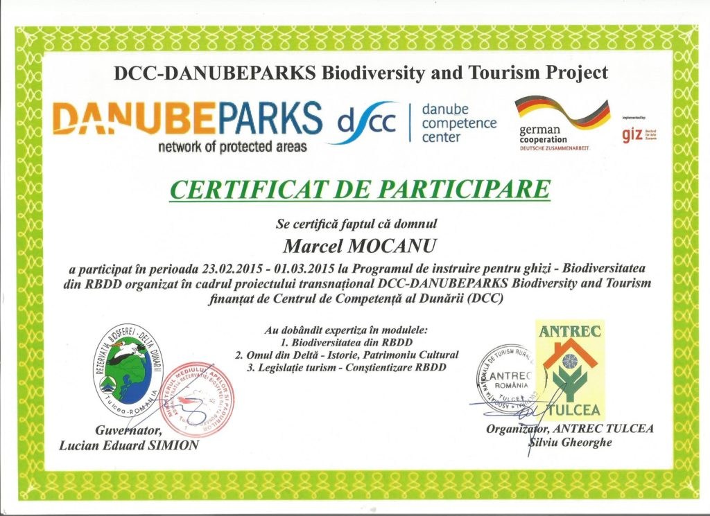 Dabube Delta Guide Certification