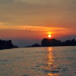 Peisaj apus in Delta Dunarii