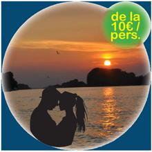 apus de soare in doi pe apele dunarii, excursii in delta dunarii, verada tour excursii in delta dunarii,